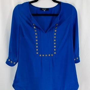 Tops - {STITCH FIX} Royal blue top with button accents